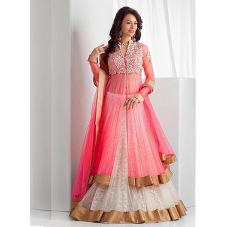 one moer entrpries pink heavy lengha choli