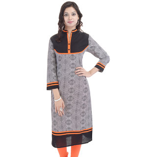 Beautiful  Cotton Printed Black Kurti From the House of  Palakh