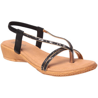 MSC Women's Black Sandals