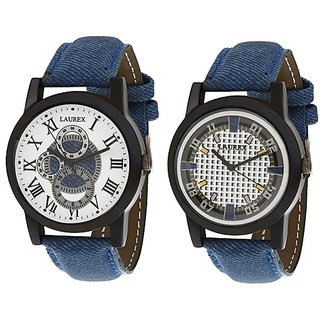Laurex Analog Round Casual Wear Watches for Men Combo-LX-003-LX-001