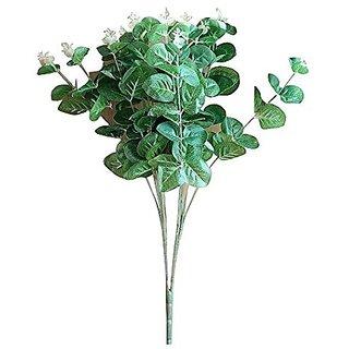 Futaba Artificial Green Plant Bush Grass Leaves Bouquet