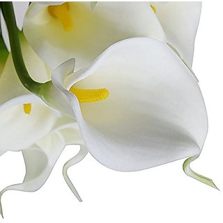 Futaba White Artificial Calla Lily Flowers - Pack of two