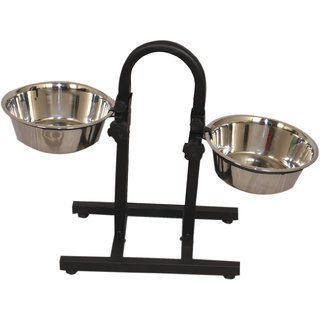 PET CLUB 51 HIGH QUALITY FOOD BOWL WITH STAND ROUND-1600ml LARGE