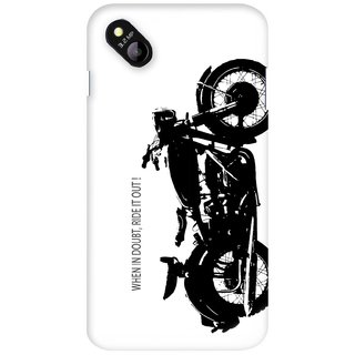 G.store Printed Back Covers for Micromax Bolt D303 White 27310