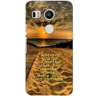 G.store Printed Back Covers for LG Google Nexus 5X Brown 26926