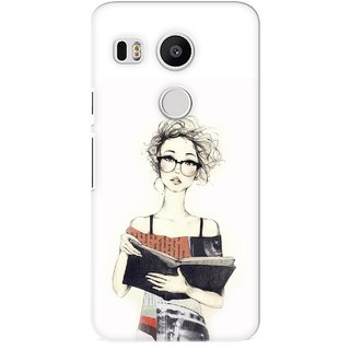 G.store Printed Back Covers for LG Google Nexus 5X White 26942