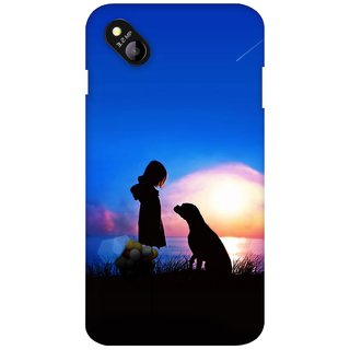G.store Printed Back Covers for Micromax Bolt D303 Blue 27366
