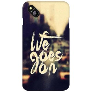 G.store Printed Back Covers for Micromax Bolt D303 Yellow 27391