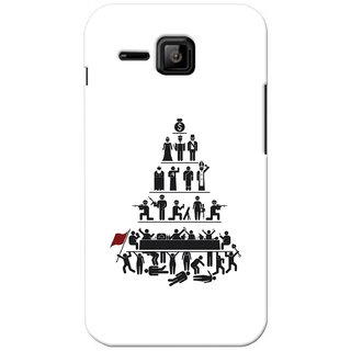 G.store Printed Back Covers for Micromax Bolt S301 White 27583