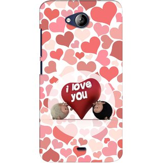 G.store Printed Back Covers for Micromax Canvas Play Q355 Red 28047