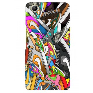 G.store Printed Back Covers for Micromax Canvas Selfie Lens Q345  Multi 28273