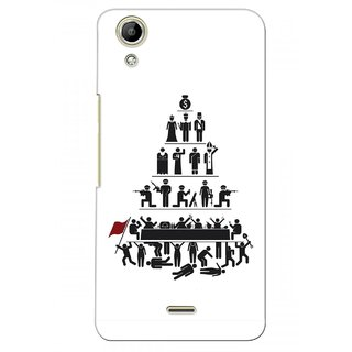 G.store Printed Back Covers for Micromax Canvas Selfie Lens Q345  White 28283