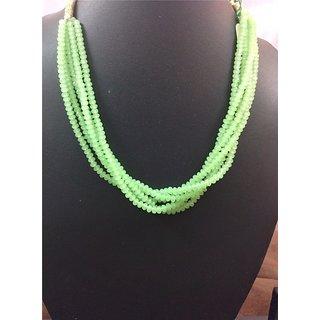 Simple,Elegant Fluoroscent Green strands in Silk Thread