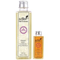 Sutra Pure Ayurveda Organic Sweet Almond Oil Cold Pressed And Body Massage Oil