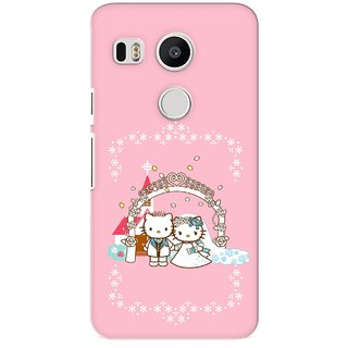 G.store Printed Back Covers for LG Google Nexus 5X Pink 26944
