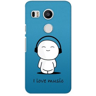 G.store Printed Back Covers for LG Google Nexus 5X Blue 26948