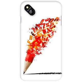G.store Printed Back Covers for Micromax Bolt D303 Red 27397