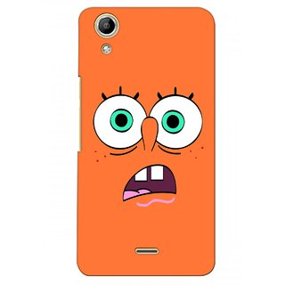 G.store Printed Back Covers for Micromax Canvas Selfie Lens Q345  Orange 28285