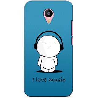 G.store Printed Back Covers for Meizu M2 Note Blue 27248