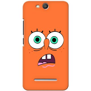 G.store Printed Back Covers for Micromax Canvas Juice 3 Q392 Orange 27885