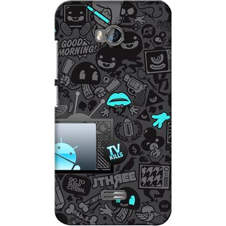 G.store Printed Back Covers for Micromax Bolt Q336 Black 28125