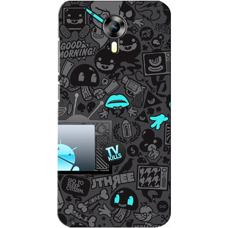 G.store Printed Back Covers for Micromax Canvas Xpress 2 E313 Black 28325