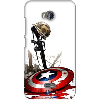 G.store Printed Back Covers for Micromax Bolt Q336 Red 28184
