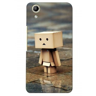 G.store Printed Back Covers for Micromax Canvas Selfie Lens Q345  Brown 28237