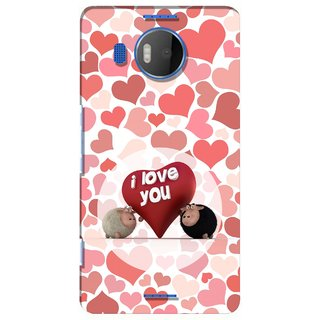 G.store Printed Back Covers for Microsoft Lumia 950 XL Red 28647