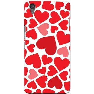 G.store Printed Back Covers for OnePlus X Red 28863