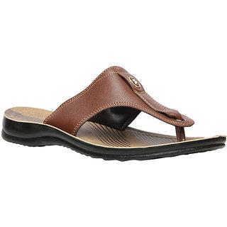 Bata MenS Dado Tan Flip Flops