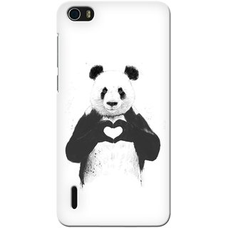 G.store Printed Back Covers for Huawei Honor 6 White 32995
