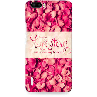 G.store Printed Back Covers for Huawei Honor 6 Plus Red 32618