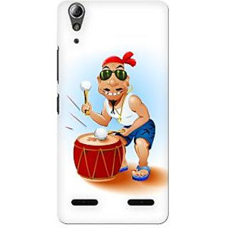 G.store Printed Back Covers for Lenovo A6000 Plus Black 34330