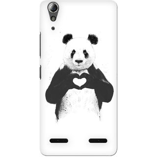 G.store Printed Back Covers for Lenovo A6000 Plus White 34395