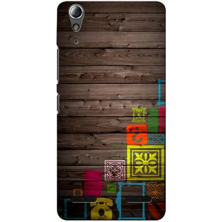 G.store Printed Back Covers for Lenovo A6000 Plus Multi 34398