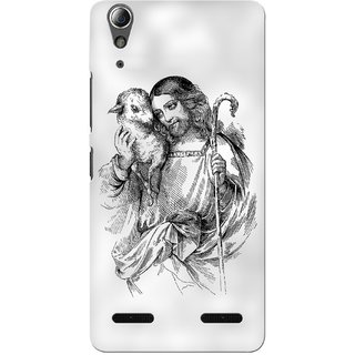 G.store Printed Back Covers for Lenovo A6000 Plus White 34400