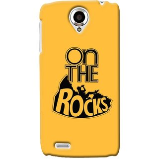 G.store Printed Back Covers for Lenovo S820 Yellow 34620