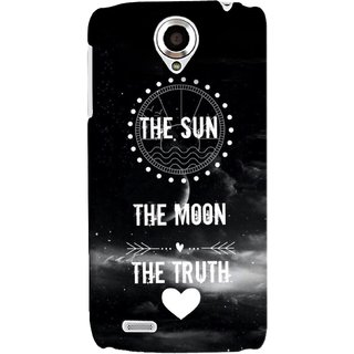 G.store Printed Back Covers for Lenovo S820 Black 34677