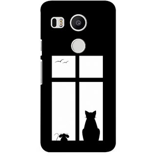 G.store Printed Back Covers for LG Google Nexus 5X Black 35810