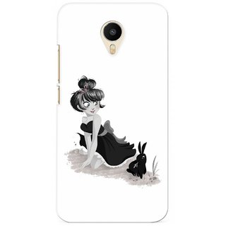 G.store Printed Back Covers for Meizu m1 metal White 36045