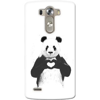 G.store Printed Back Covers for LG G3 White 35395