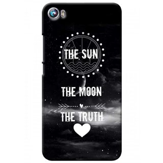 G.store Printed Back Covers for Micromax Canvas Fire 4 A107 Black 37277