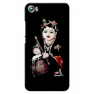 G.store Printed Back Covers for Micromax Canvas Fire 4 A107 Black 37281