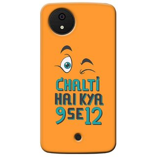G.store Printed Back Covers for Micromax Canvas A1 Orange 36702