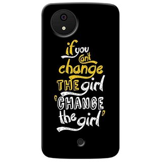 G.store Printed Back Covers for Micromax Canvas A1 Black 36703