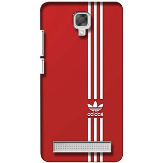 G.store Printed Back Covers for Micromax Bolt Q338 Red 36932
