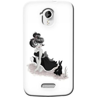G.store Printed Back Covers for Micromax Canvas HD A116 White 37345