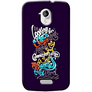 G.store Printed Back Covers for Micromax Canvas HD A116 Multi 37368