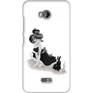 G.store Printed Back Covers for Micromax Bolt Q336 White 38045